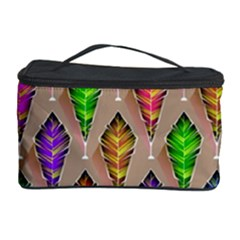 Abstract Background Colorful Leaves Cosmetic Storage Case