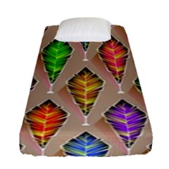 Abstract Background Colorful Leaves Fitted Sheet (single Size)