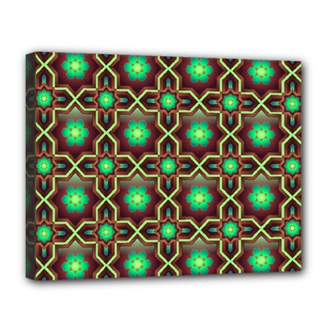 Pattern Background Bright Brown Canvas 14  X 11  by Nexatart
