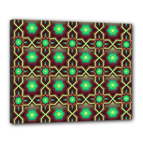 Pattern Background Bright Brown Canvas 20  X 16