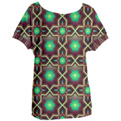 Pattern Background Bright Brown Women s Oversized Tee