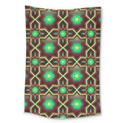 Pattern Background Bright Brown Large Tapestry