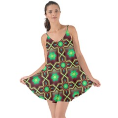 Pattern Background Bright Brown Love The Sun Cover Up