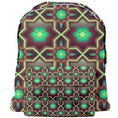 Pattern Background Bright Brown Giant Full Print Backpack