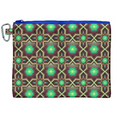 Pattern Background Bright Brown Canvas Cosmetic Bag (xxl) by Nexatart