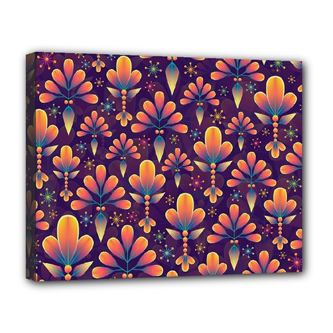 Abstract Background Floral Pattern Canvas 14  X 11