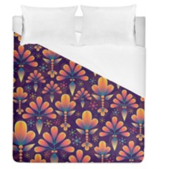 Abstract Background Floral Pattern Duvet Cover (queen Size)