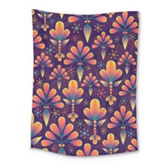 Abstract Background Floral Pattern Medium Tapestry