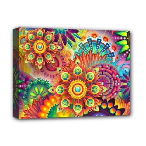 Colorful Abstract Background Colorful Deluxe Canvas 16  X 12