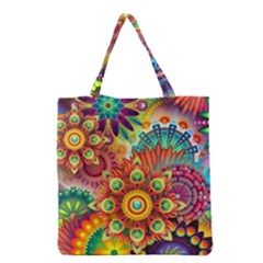 Colorful Abstract Background Colorful Grocery Tote Bag