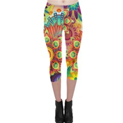 Colorful Abstract Background Colorful Capri Leggings