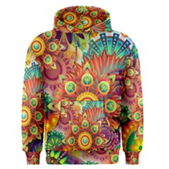 Colorful Abstract Background Colorful Men s Pullover Hoodie by Nexatart