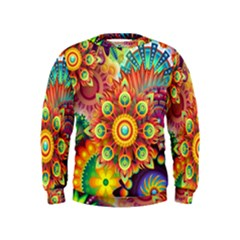 Colorful Abstract Background Colorful Kids  Sweatshirt