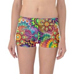 Colorful Abstract Background Colorful Boyleg Bikini Bottoms