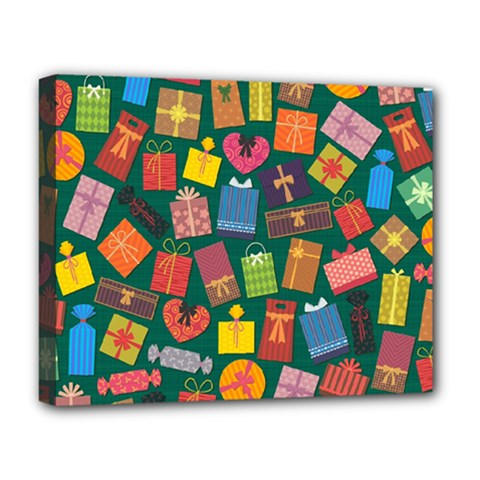 Presents Gifts Background Colorful Deluxe Canvas 20  X 16
