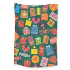 Presents Gifts Background Colorful Large Tapestry