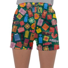 Presents Gifts Background Colorful Sleepwear Shorts