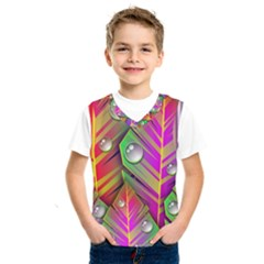 Abstract Background Colorful Leaves Kids  Sportswear