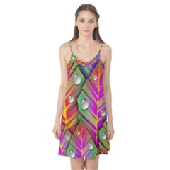 Abstract Background Colorful Leaves Camis Nightgown