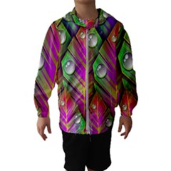 Abstract Background Colorful Leaves Hooded Wind Breaker (kids)