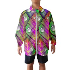 Abstract Background Colorful Leaves Wind Breaker (kids)