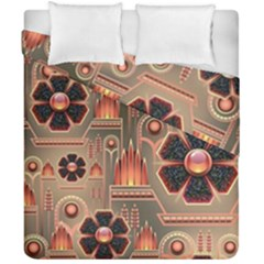 Background Floral Flower Stylised Duvet Cover Double Side (california King Size)