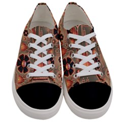 Background Floral Flower Stylised Women s Low Top Canvas Sneakers