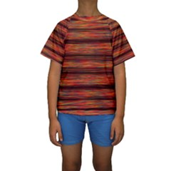 Colorful Abstract Background Strands Kids  Short Sleeve Swimwear