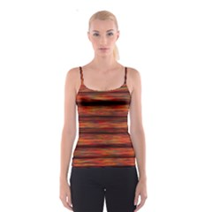 Colorful Abstract Background Strands Spaghetti Strap Top