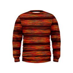 Colorful Abstract Background Strands Kids  Sweatshirt