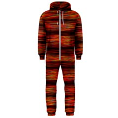 Colorful Abstract Background Strands Hooded Jumpsuit (men)