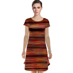 Colorful Abstract Background Strands Cap Sleeve Nightdress