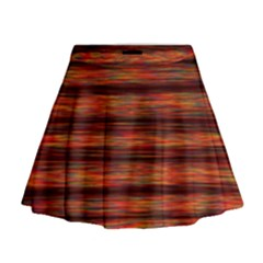 Colorful Abstract Background Strands Mini Flare Skirt