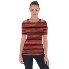 Colorful Abstract Background Strands Short Sleeve Top