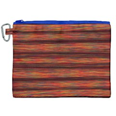Colorful Abstract Background Strands Canvas Cosmetic Bag (xxl) by Nexatart