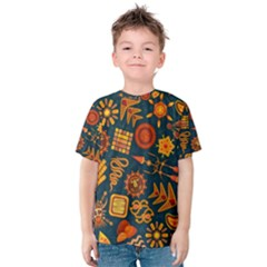 Pattern Background Ethnic Tribal Kids  Cotton Tee