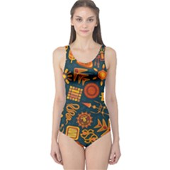 Pattern Background Ethnic Tribal One Piece Swimsuit