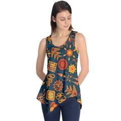 Pattern Background Ethnic Tribal Sleeveless Tunic