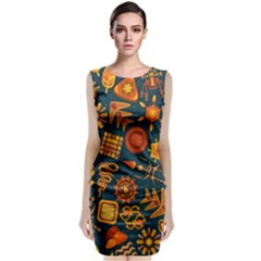 Pattern Background Ethnic Tribal Classic Sleeveless Midi Dress