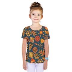 Pattern Background Ethnic Tribal Kids  One Piece Tee