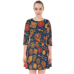 Pattern Background Ethnic Tribal Smock Dress