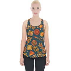 Pattern Background Ethnic Tribal Piece Up Tank Top