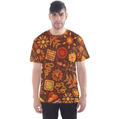 Pattern Background Ethnic Tribal Men s Sports Mesh Tee