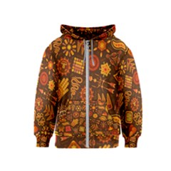 Pattern Background Ethnic Tribal Kids  Zipper Hoodie