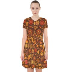 Pattern Background Ethnic Tribal Adorable In Chiffon Dress