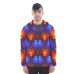 Background Colorful Abstract Hooded Wind Breaker (men)