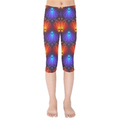 Background Colorful Abstract Kids  Capri Leggings