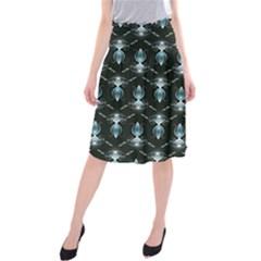 Seamless Pattern Background Midi Beach Skirt