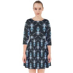 Seamless Pattern Background Smock Dress