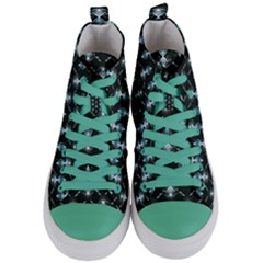 Seamless Pattern Background Women s Mid Top Canvas Sneakers